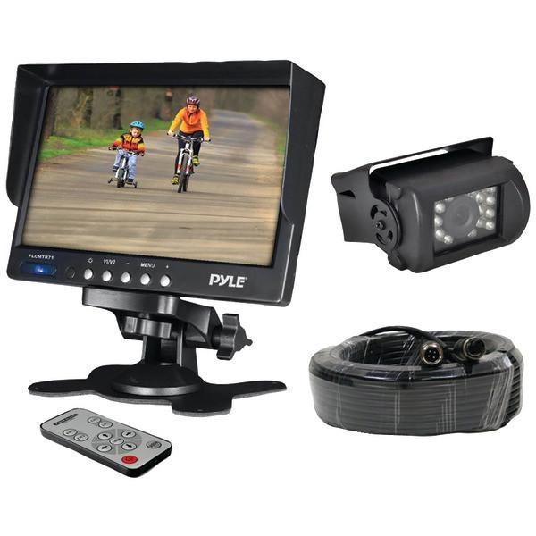 "Pyle PLCMTR71 7"" Weatherproof Backup Camera System with IR Night Vision Camera from Pyle"