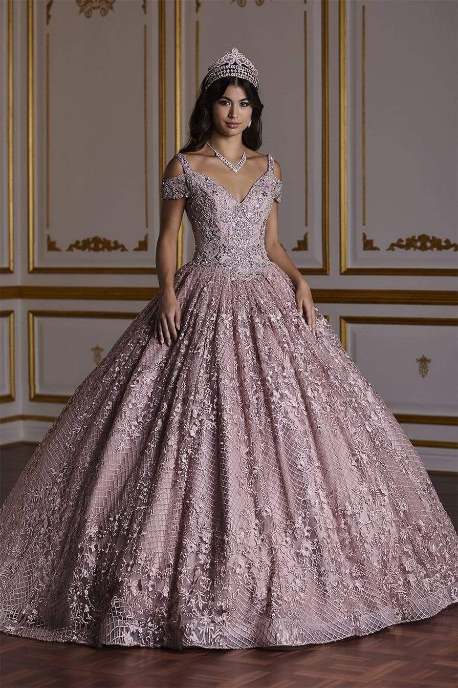Quinceañera Collection - 26930 Cold-shoulder Style Ball Gown from Quinceanera Collection