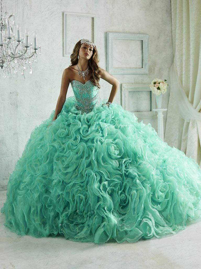 Quinceanera Collection - 26801 Crystal Embellished Sweetheart Ballgown from Quinceanera Collection