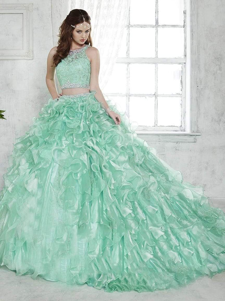Quinceanera Collection - 26813 Crystal Ornate Two Piece Ballgown from Quinceanera Collection