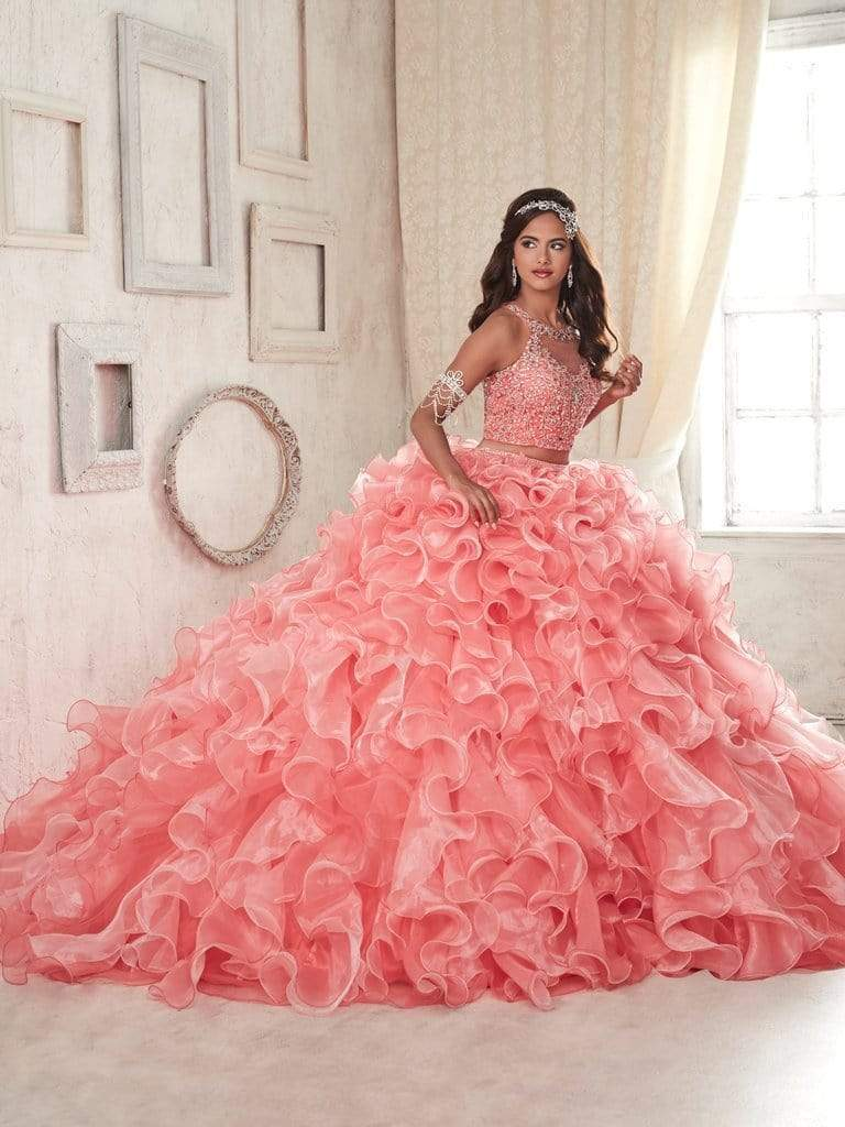 Quinceanera Collection - 26830 Two Piece Bedazzled Ruffled Ballgown from Quinceanera Collection