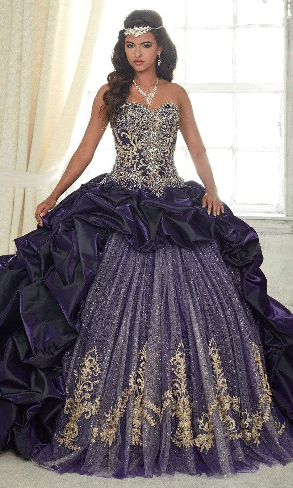 Quinceanera Collection - 26831 Metallic Embroided Sweetheart Ballgown from Quinceanera Collection