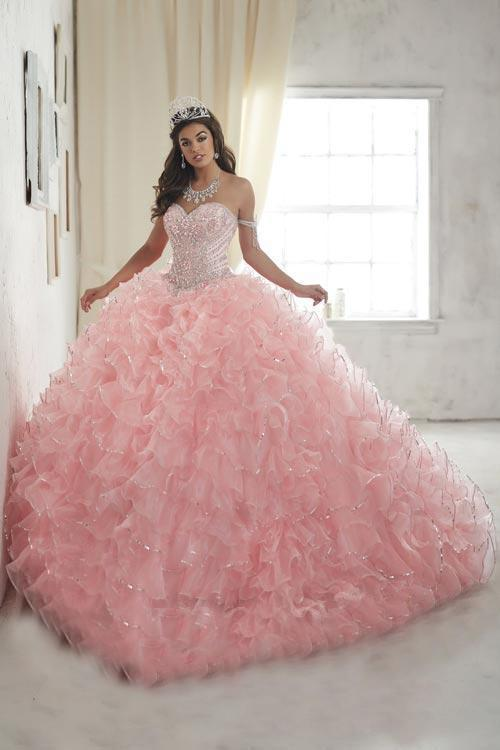 Quinceanera Collection - 26845 Crystal Beaded Ruffle Organza Ballgown from Quinceanera Collection