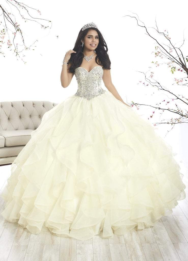 Quinceanera Collection - 26870 Crystal Sweetheart Corset Ballgown from Quinceanera Collection