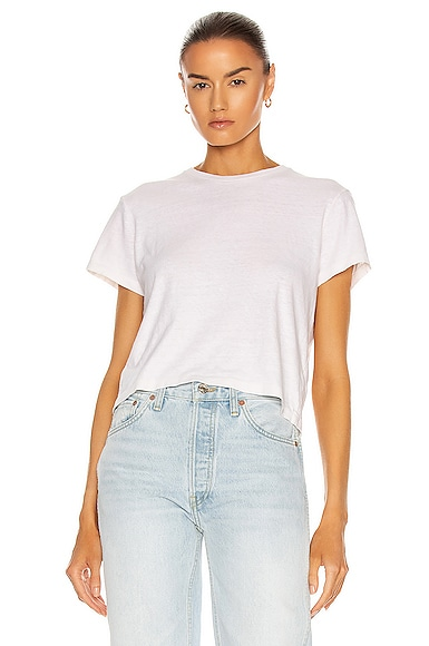 RE/DONE 1950's Boxy Tee in White from RE/DONE