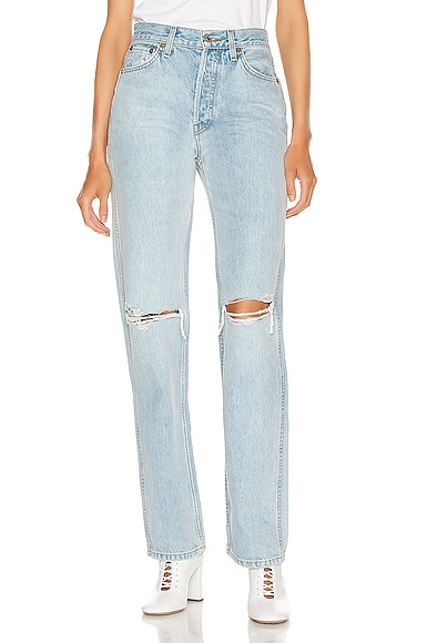 RE/DONE High Rise Loose in Denim Light from RE/DONE