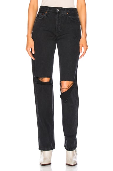 RE/DONE ORIGINALS High Rise Loose in Black from RE/DONE
