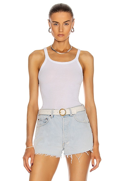RE/DONE Ribbed Tank Top in White from RE/DONE