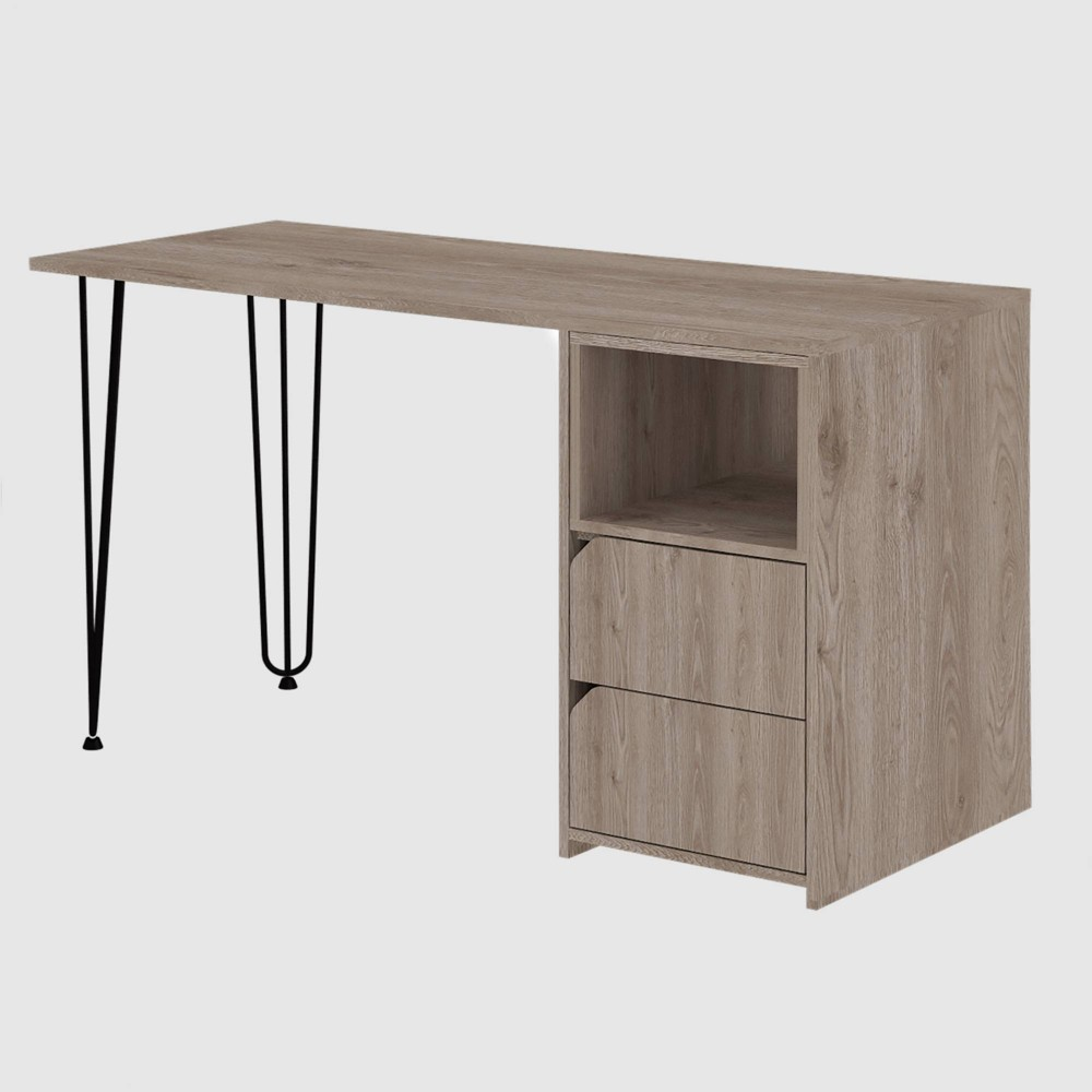 Aster 2 Drawer Desk Aged Oak - RST Brands from RST Brands
