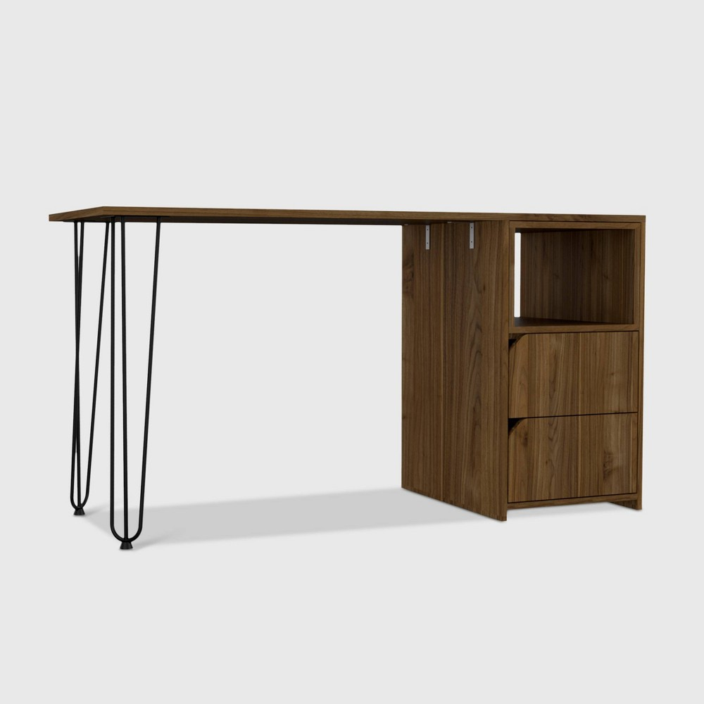 Aster 2 Drawer Desk Brown - RST Brands from RST Brands
