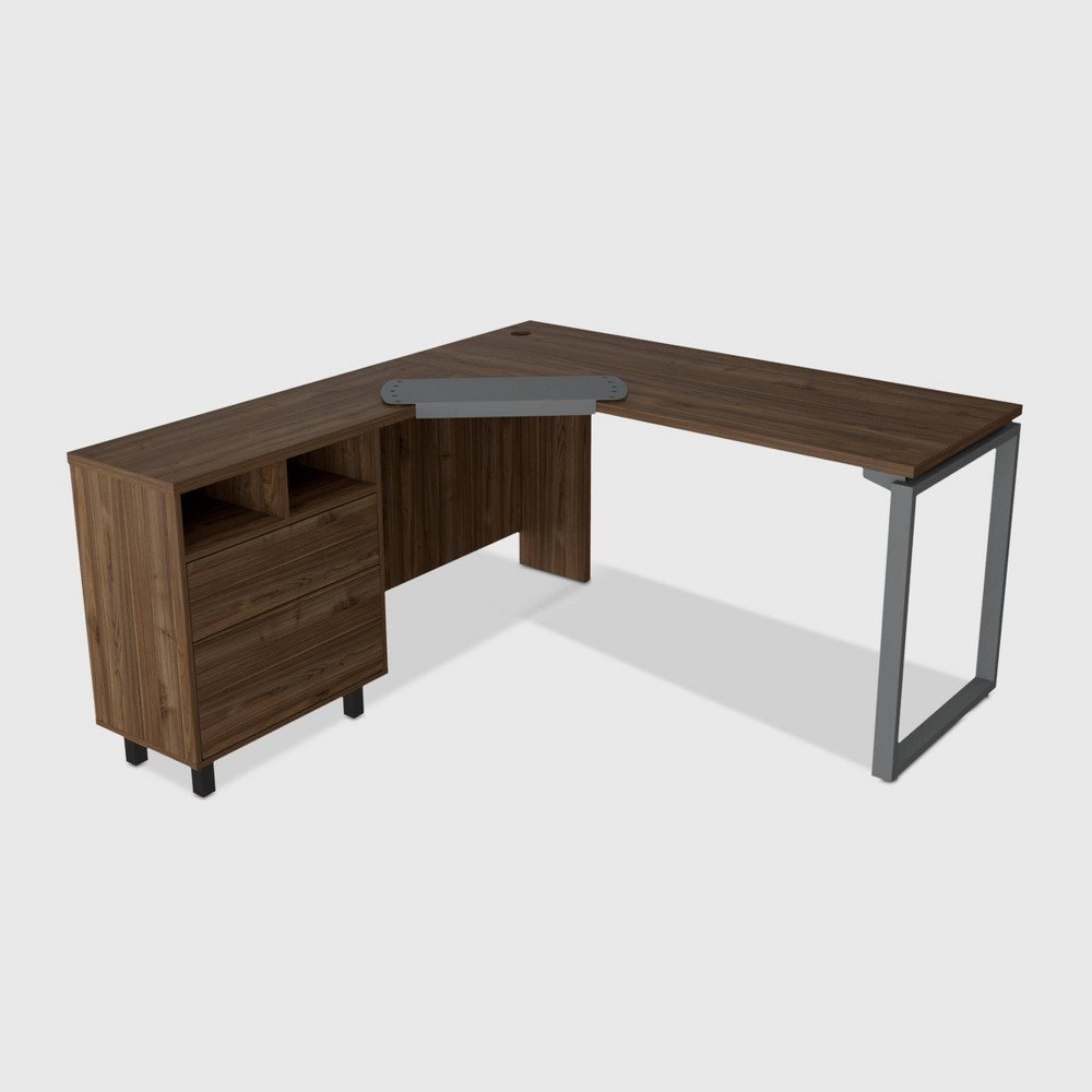 Emery 3 Drawer Desk Brown - RST Brands from RST Brands