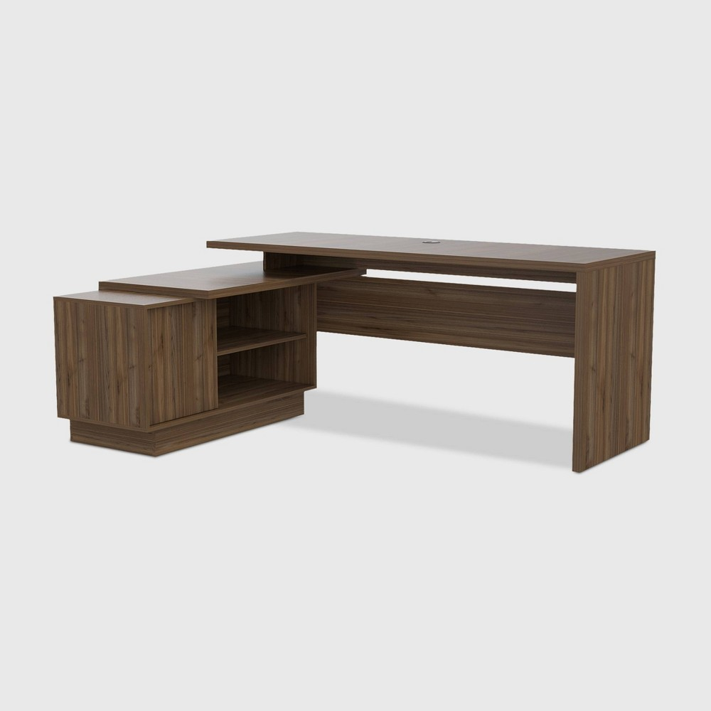 Emery L Shaped Desk Brown - RST Brands from RST Brands