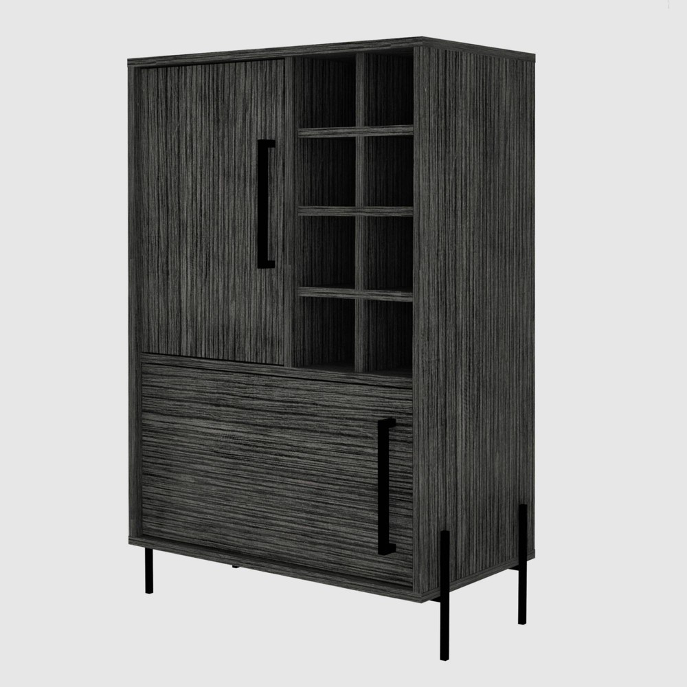 Page Bar Cabinet Smokey Oak - RST Brands from RST Brands