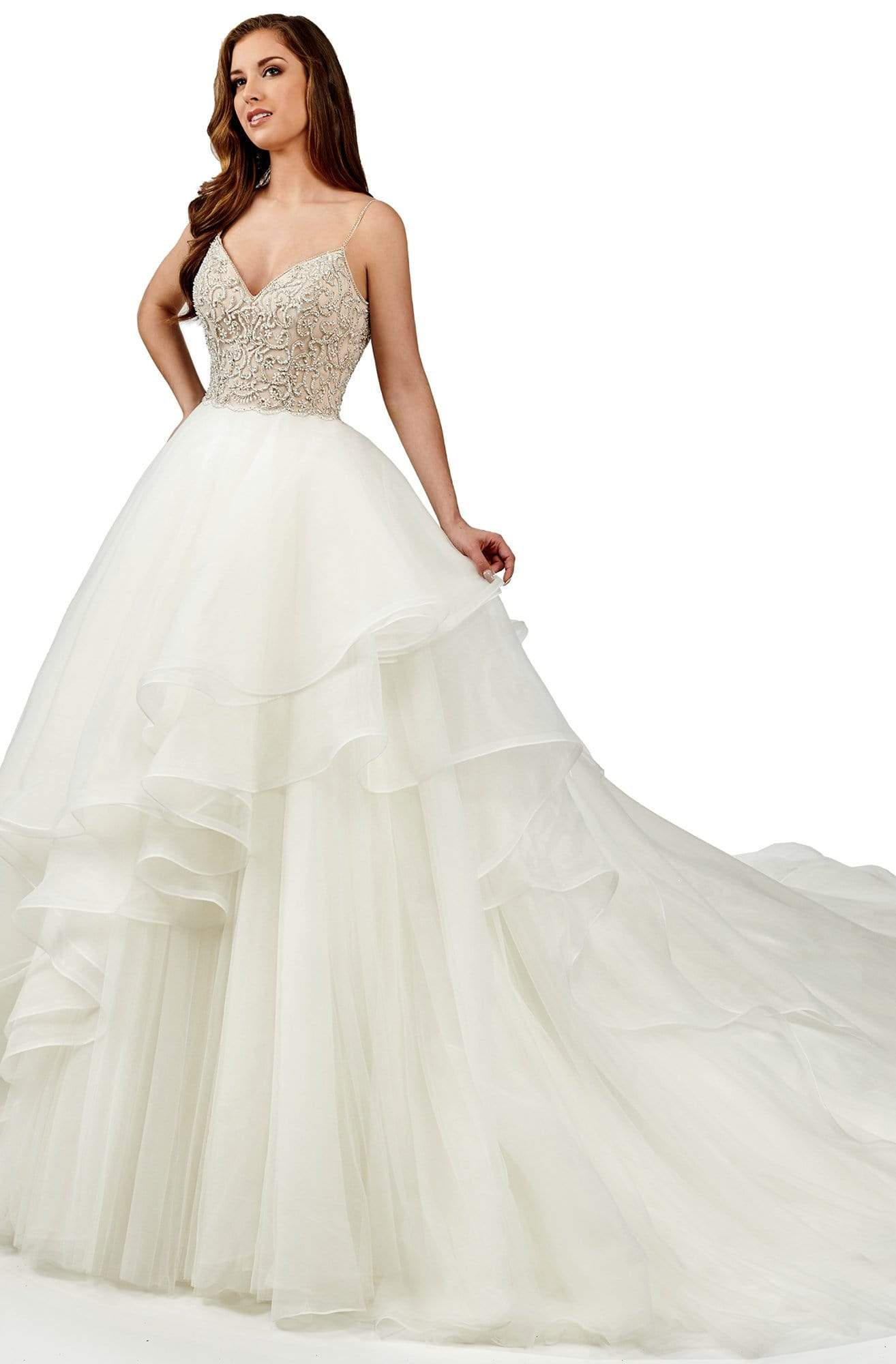 Lo'Adoro Bridal By Rachel Allan - M747 Crystal Beaded Sweetheart Ballgown from Rachel Allan