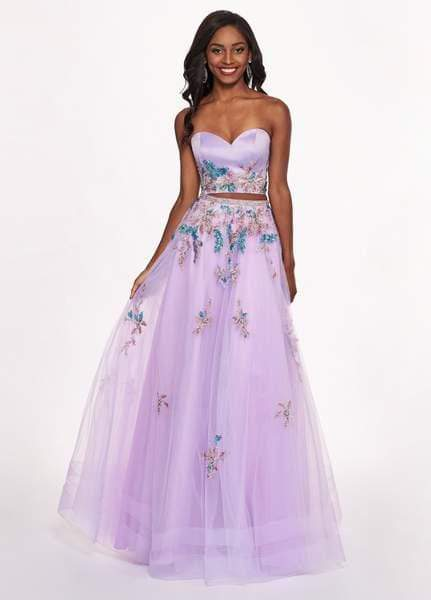 Rachel Allan - 6428 Strapless Beaded Embroidered Two-Piece Prom Gown from Rachel Allan