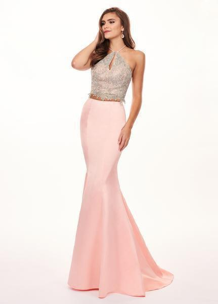 Rachel Allan - 6478 Two Piece Embroidered Satin Mermaid Gown from Rachel Allan