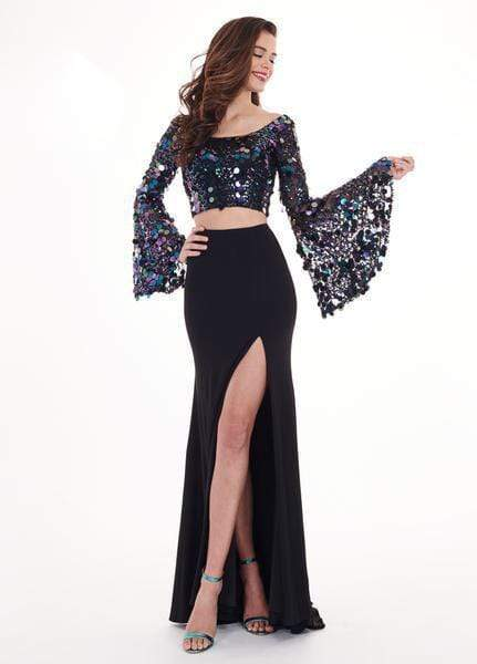 Rachel Allan - 6492 Two Piece Sequined Sheath Gown from Rachel Allan