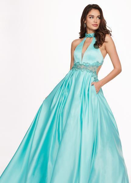 Rachel Allan - 6528 Beaded Midriff Cutout Bodice Gown from Rachel Allan