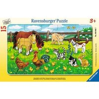 Ravensburger 2D Children's Puzzle Farm Animals in the Meadow 15 pcs. for ages 3 + from Ravensburger