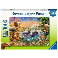 Ravensburger 2D Children's Puzzle Savannah Jungle Waterhole 100 pcs. for ages 6 + from Ravensburger