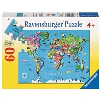 Ravensburger 2D Children's Puzzle World Map 60 pcs. for ages 4 + from Ravensburger