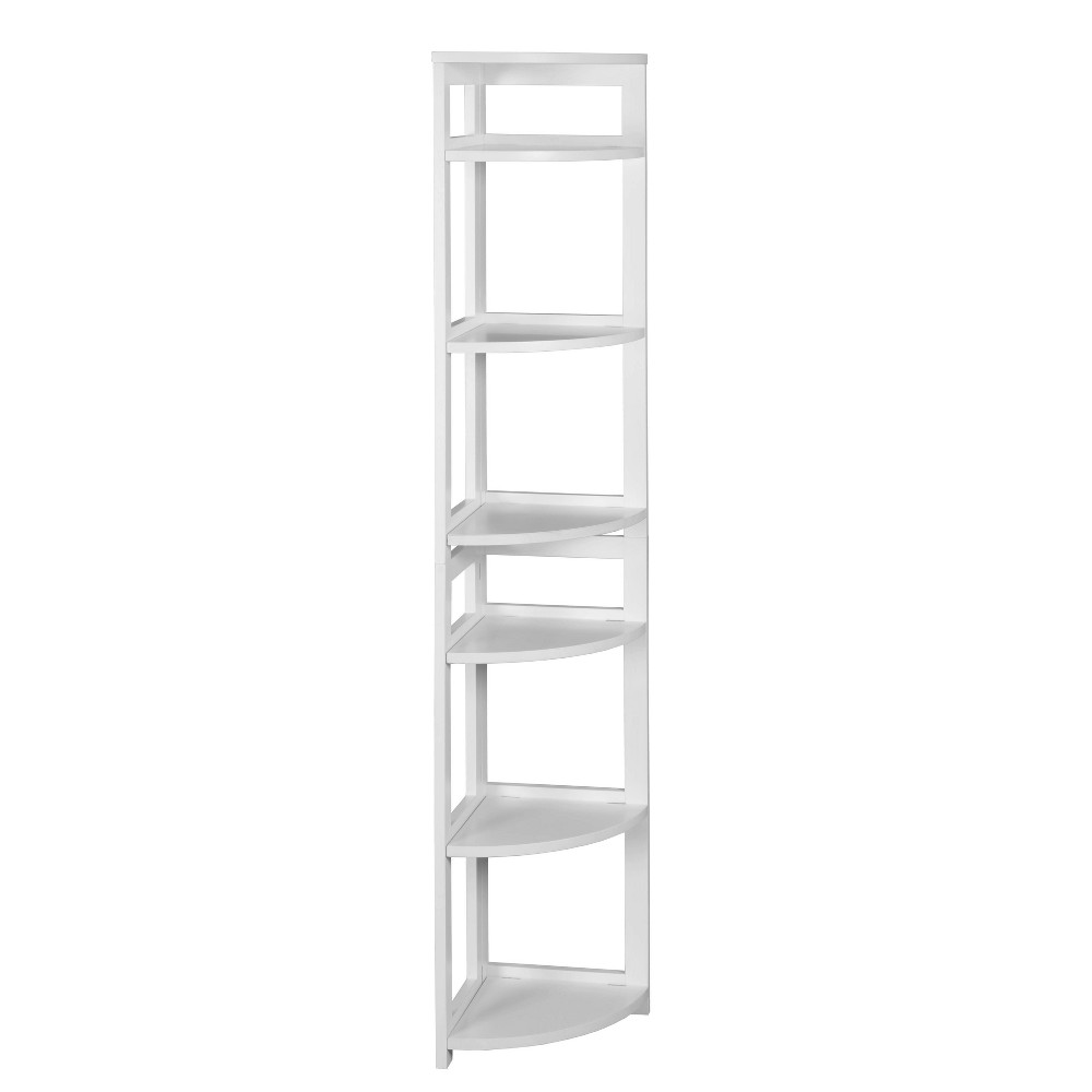 "67"" Cakewalk High Corner Folding Bookcase White - Regency from Regency"