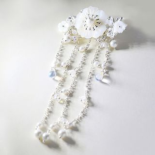 Floral Pearl Crystal Hair Pin from Paparazzi