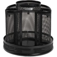 Wire Mesh Spinning Desk Sorter, Black from Rolodex
