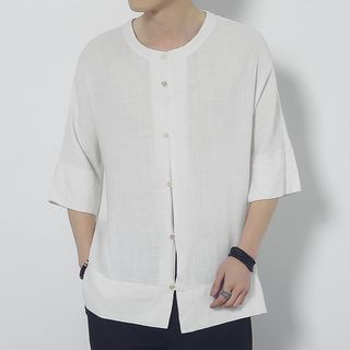 3/4-Sleeve Plain Shirt from Romantica
