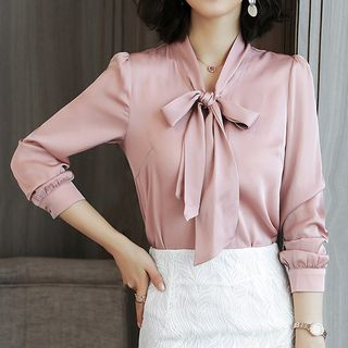 Bow Accent Blouse from Romantica