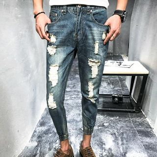 Distressed Cropped Jeans from Romantica