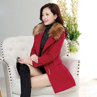 Faux-Fur Collar Coat from Romantica