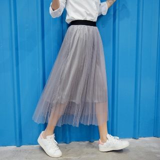 Mesh Pleated Skirt from Romantica