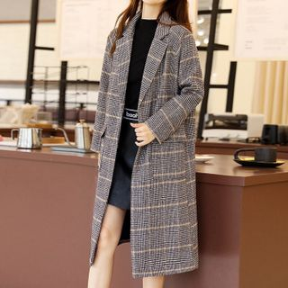 Plaid Button Coat from Romantica