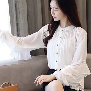 Ruffle Trim Blouse from Romantica