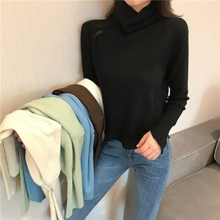 Turtleneck Long-Sleeve T-Shirt from Romantica