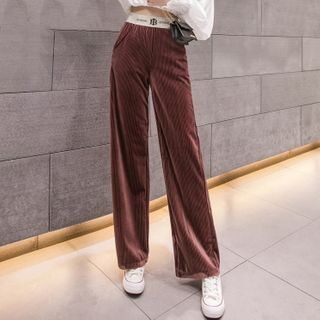 Velvet Wide Leg Pants from Romantica
