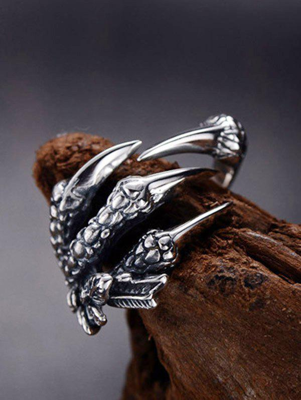 Stainless Steel Dragon Claw Open Ring from Rosegal