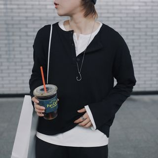 Long-Sleeve Half-Button T-Shirt from STILL YOU