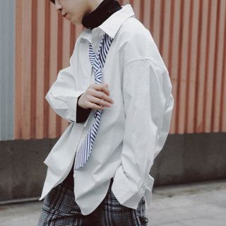 Long-Sleeve Tie-Neck Shirt from STILL YOU