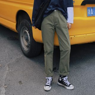 Plain Straight-Leg Pants from STILL YOU