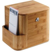 Bamboo Suggestion Box, 10 x 8 x 14, Natural from Safco