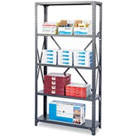 Commercial Steel Shelving Unit, Five-Shelf, 36w x 18d x 75h, Dark Gray from Safco