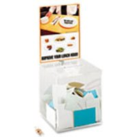 Large Acrylic Collection Box, 9 1/4 x 9 1/4 x 21, Clear from Safco