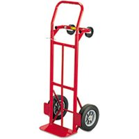 Two-Way Convertible Hand Truck, 500-600lb Capacity, 18w x 51h, Red from Safco