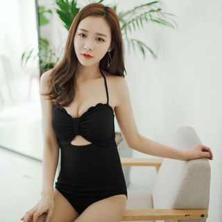 Scallop-Edge Cutout Swimsuit from Salanghae
