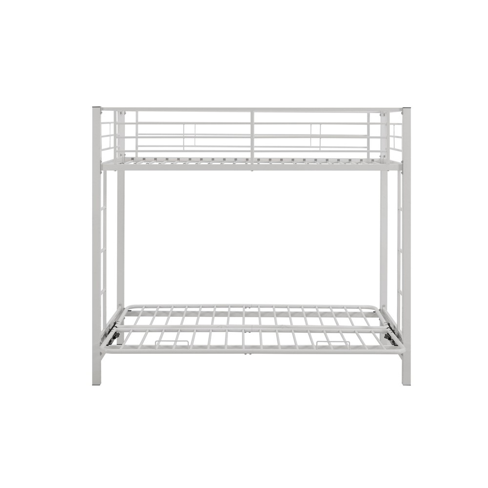Twin Premium Metal over Futon Bunk Bed White - Saracina Home from Saracina Home