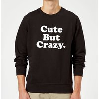 Cute But Crazy Sweatshirt - Black - L - Black from The Valentines Collection