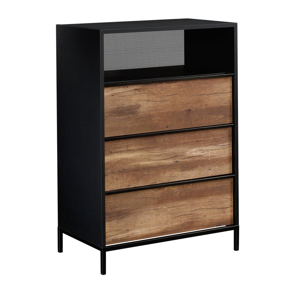 Boulevard Cafe 3 Drawer Chest Black - Sauder from Sauder