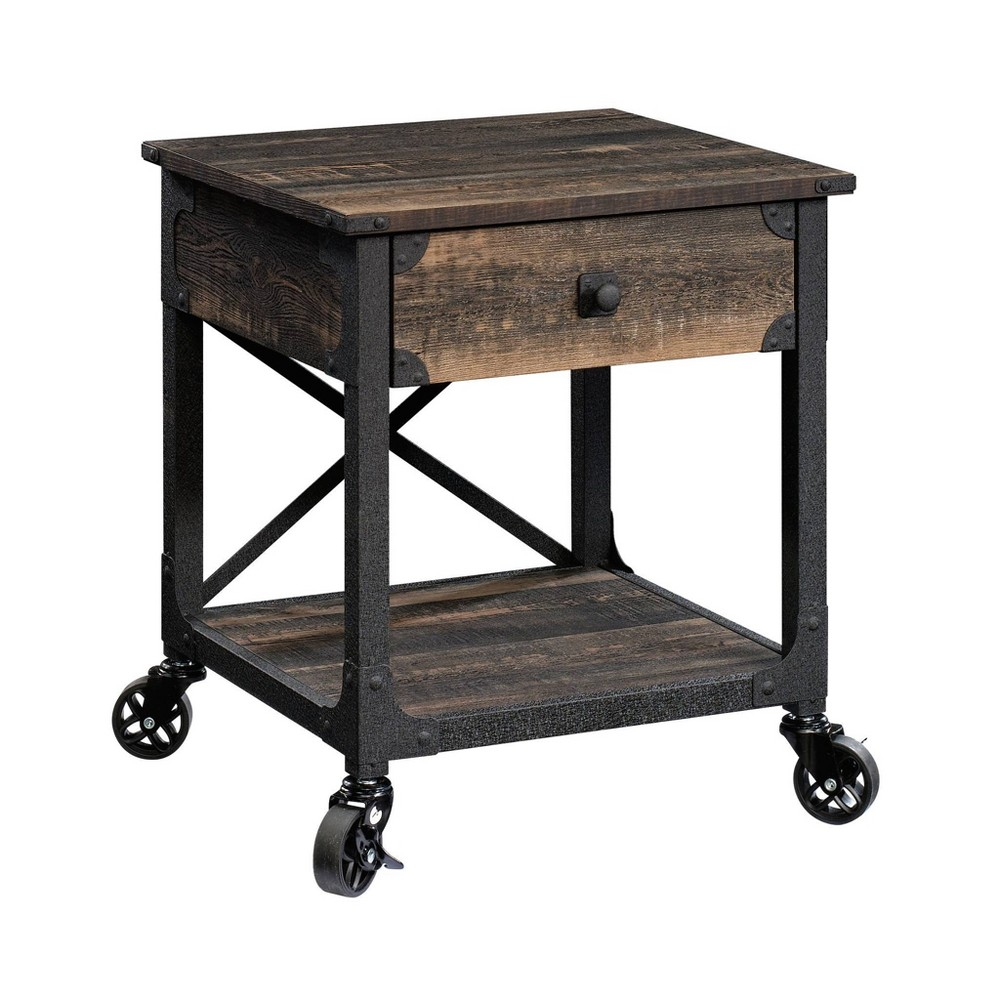 Steel River Side Table Carbon Oak - Sauder from Sauder